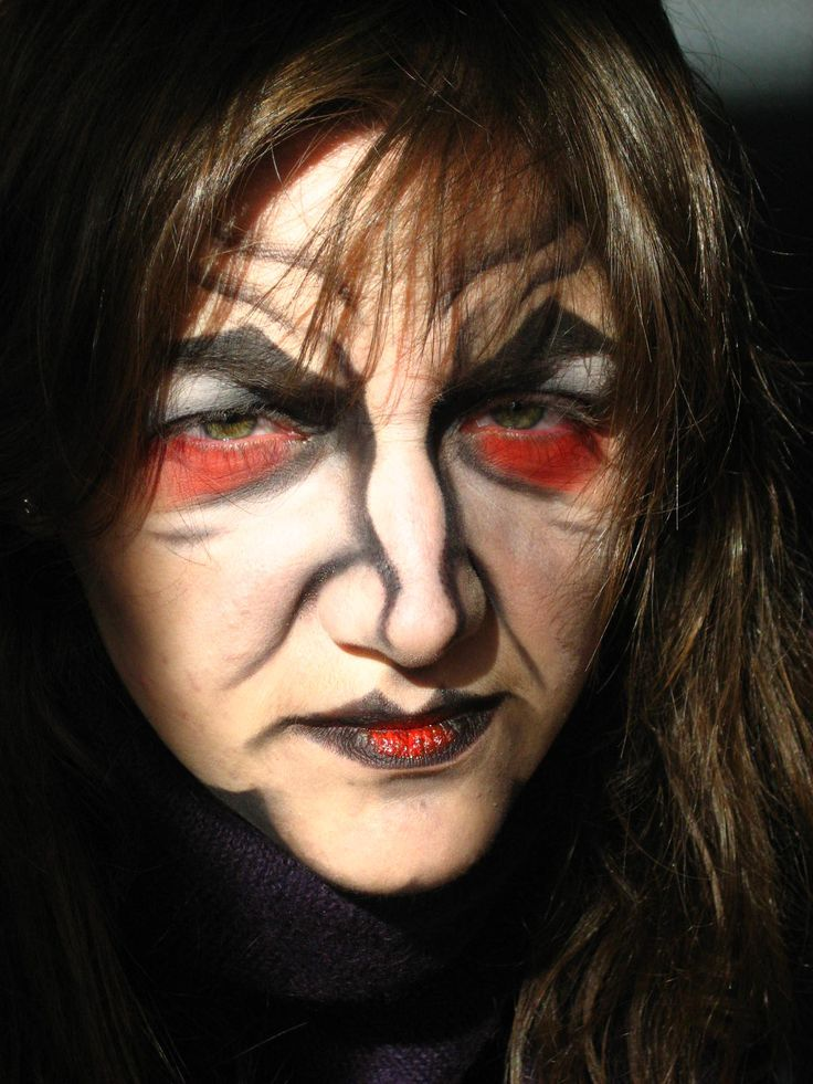 witch halloween makeup ideas - Easy Scary Halloween Face Painting Ideas