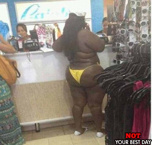 Cmon! No one wants to see that Itsy Bitsy Teeny Weeny Yellow Polka Dot Bikini! // Hells no. Scooby Dooby Eye-bleach, where are you? - ME