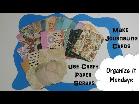 Organize Paper Scraps by Making Journaling Cards | What to Do With Paper Scraps - YouTube