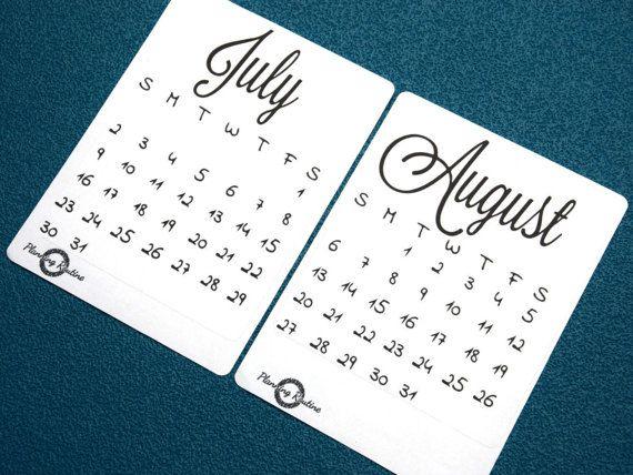 Kalender 2017, MontJuly augustus maandelijkse Planner, juli 2017, augustus 2017, maandkalender