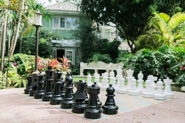 Giant chess game at Sandals Royal Bahamian - how fun! (Photo by Alexis June Weddings)