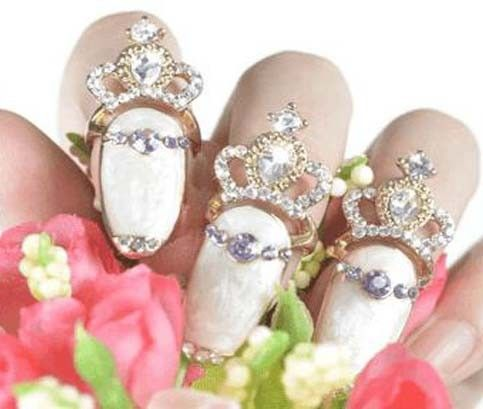 Crystal Nail Ring with Gift Box, 2 Pack, ikOala Jewellery Deals