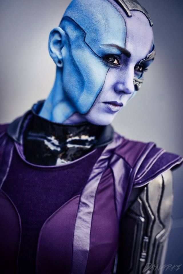 Nebula cosplay, guardians of the galaxy.