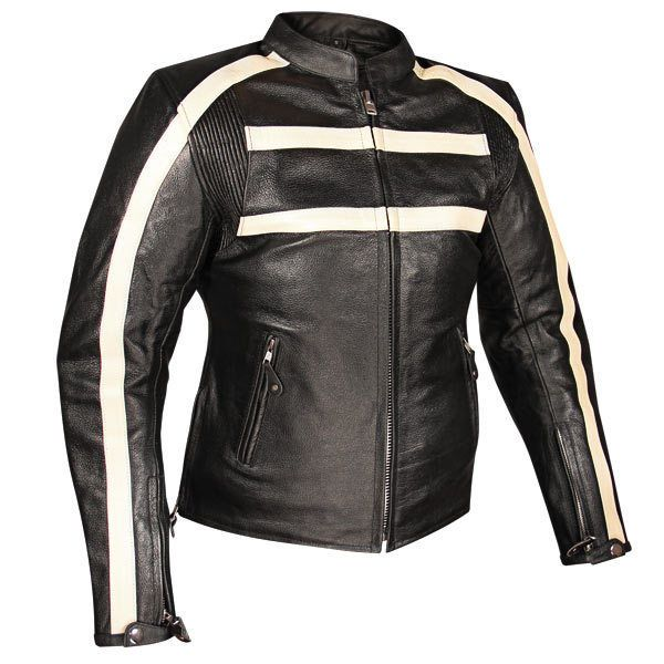 Tall Vented Racer Leather Motorcycle Jacket Big Tall Bikers W Full Action Back