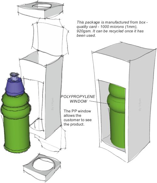 PROMOTIONAL PACKAGING FOR A SINGLE DRINKS CONTAINER