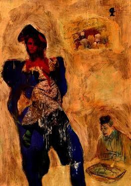 """Saatchi Art Artist CRIS ACQUA; Collage, """"24-LAUTREC x Cris Acqua"""" #art"""
