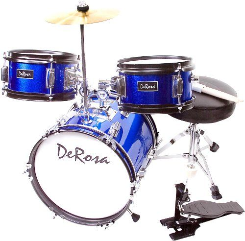 De Rosa DRM312-BU Children`s 3 Piece 12 Inch Drum Set with Chair, Blue $93.46 (save $36.49) + Free Shipping: Chair, Drm312 Bu Children S, Drum Sets, Rosa Drm312 Bu, Inch Drum, Pink, 12 Inch
