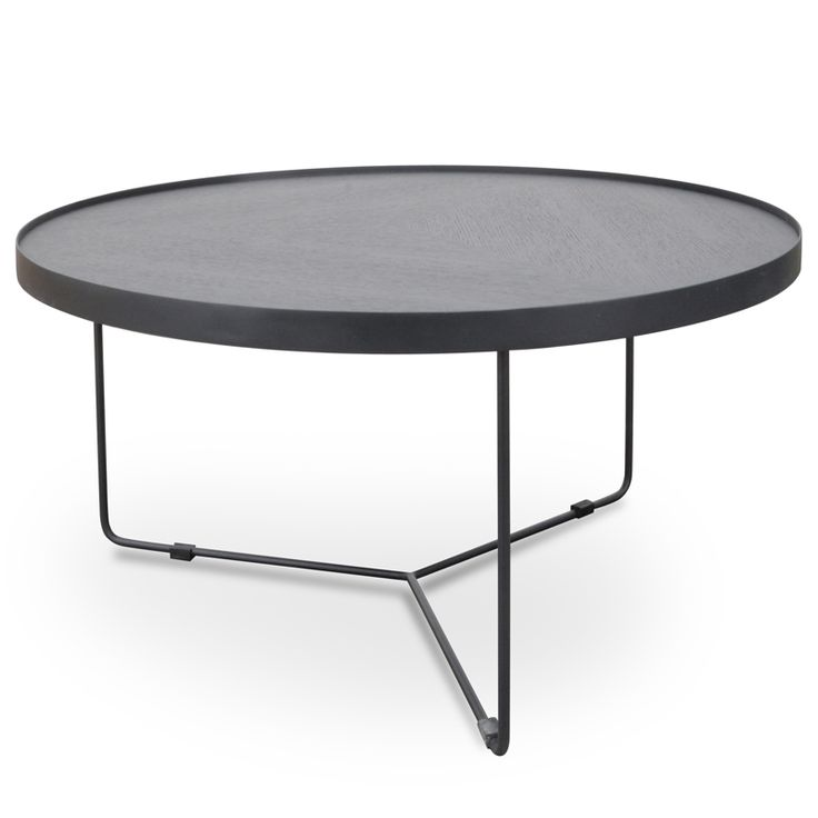 Beautiful and dark like the Moon, Luna Extra Large Coffee Table - Black Oak Top - Black Metal is a classic contemporary addition to complete your living room.