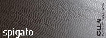 """Wzór dla """"materiałowej"""" struktury Cleaf Spigato został zaczerpnięty ze świata mody i przedstawia klasyczny tweedowy motyw, gdzie przeciwstawione sobie jasne i ciemne wzorki są """"utkane"""" w tzw. jodełkę.  więcej: http://www.forner.pl/pl/cleaf-spigato-struktura-z-kolekcji-forner-59-cleaf"""