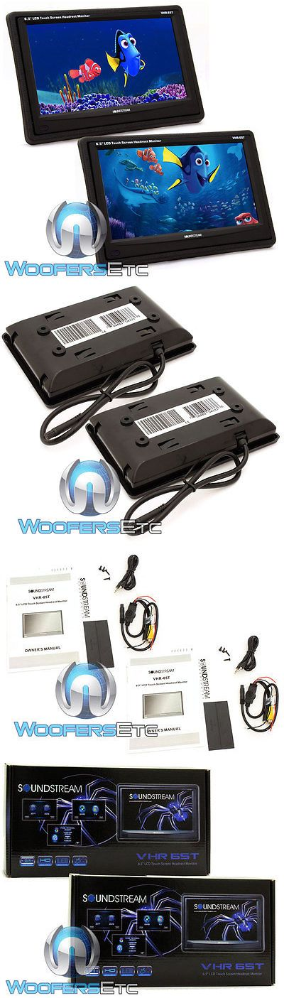 Car Monitors w o Player: 2 Soundstream Vhr-65T 6.5 Lcd Touchscreen Headrest Monitors Hd Wide Screens New BUY IT NOW ONLY: $119.99