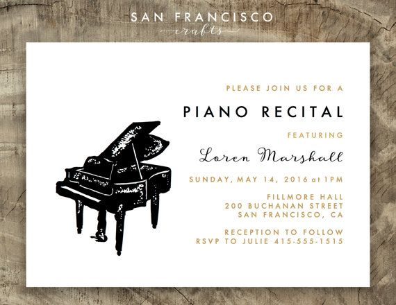 25 best concert invitation images on pinterest posters graphics piano recital invitation music concert by sanfranciscocrafts thecheapjerseys