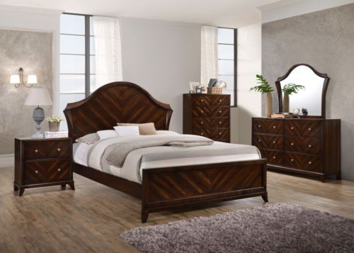 Bedding: Kings Brand Furniture Wenge Mahogany Finish Wood Queen Size Bedroom Set -> BUY IT NOW ONLY: $1299.99 on eBay!