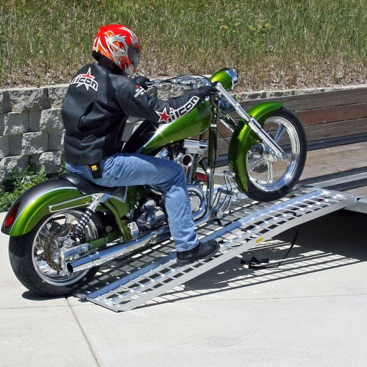 Black Widow Aluminum Non-Folding Arched Motorcycle Ramp - 7' & 8' Long