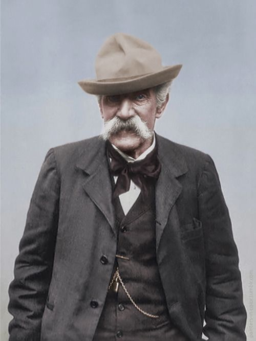 Giovanni Fattori (1825-1908) was one of the leaders of the group known as the Macchiaioli. Colorized by painters-in-color.  from: http://painters-in-color.tumblr.com/
