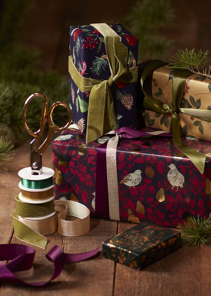 The pleasure of giving begins with beautiful wrapping: we have gift wrap, ribbons and bows to make presents look extra special.
