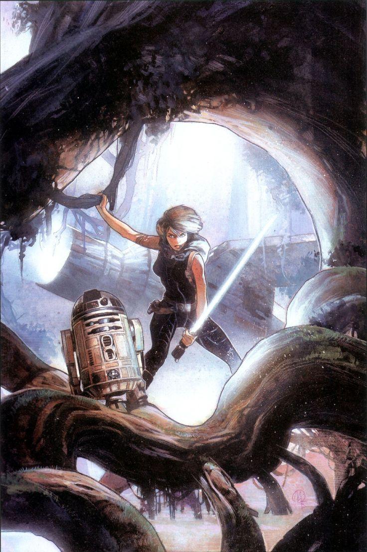 Star Wars - R2-D2 and Mara Jade