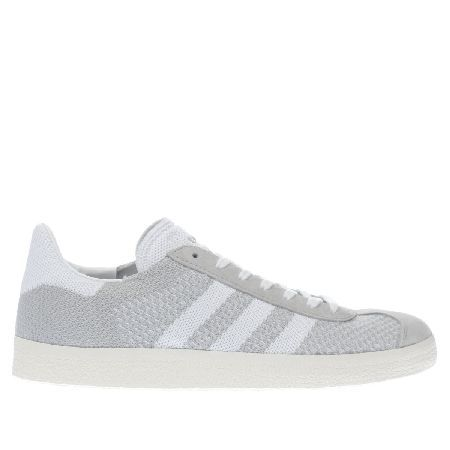 sale retailer a0df2 85be9 Adidas light grey gazelle primeknit trainers The comfort and support of a  Primeknit upper is now available in a chic street style classic. The li…
