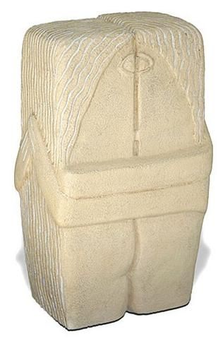 THE KISS BY BRANCUSI TWO LOVERS KISSING ABSTRACT SCULPTURE 9H - 3358