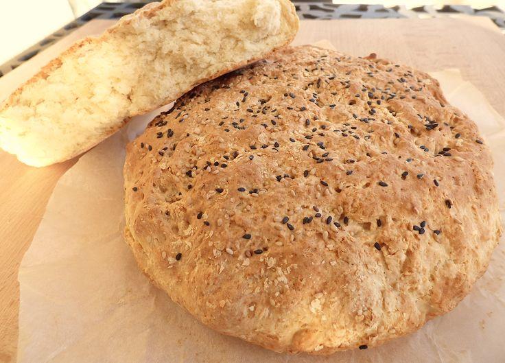 """Ce merveilleux """"pain/gâteau"""" nous vient tout droit de la Bosnie. Très simple et rapide à réaliser, il ne demande aucun temps de repos ! C'est un pain légèr"""