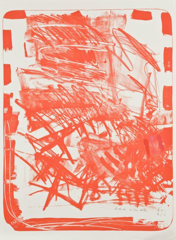 Lea Nikel, Israeli, b. Ukraine, 1918-2005  Untitled, 1979      Lithograph on paper     30 × 22 1/2 in. (76.2 × 57.2 cm)      The Jewish Museum, New York     Gift of Selma and Stanley I. Batkin, 1984-42