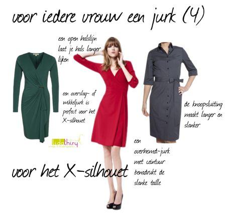 jurken voor de zandloper of het X-silhouet. Klik op de foto voor meer details. #zandloper