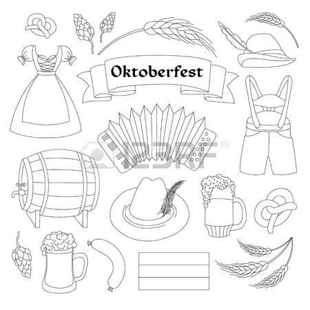 Colección de elementos de Alemania. Fiesta de Oktoberfest. Ilustración del vector, EPS 10