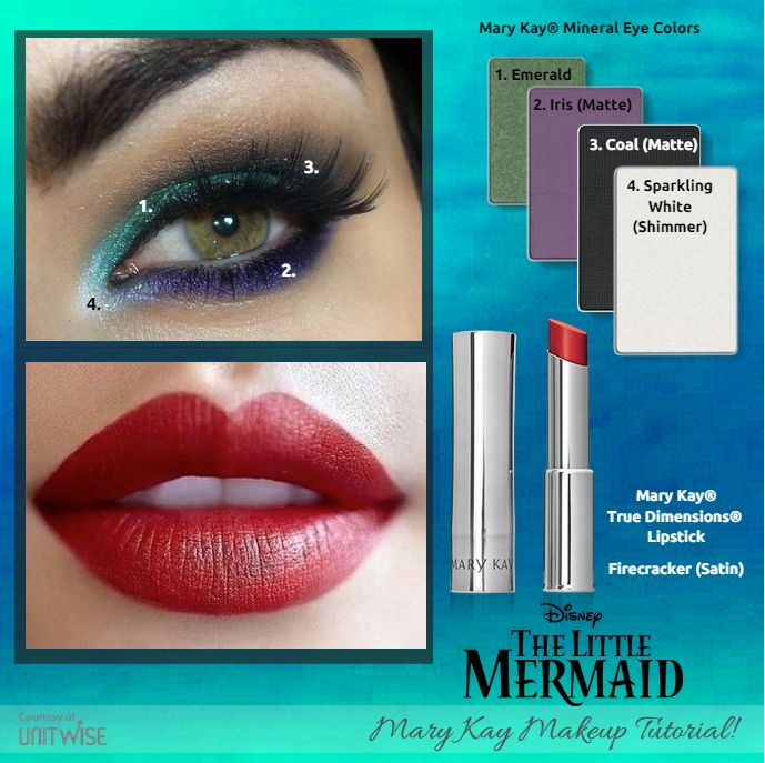 Here's our next Disney princess inspired Mary Kay makeup look, The Little Mermaid!
