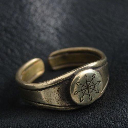Bronze Chaos Star ring. Warhammer 40000. W40K. Chaosphere. Warp. Magic. #Rings
