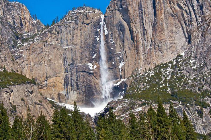 Водопад Лошадиный Хвост, Йосемитский национальный парк, Калифорния