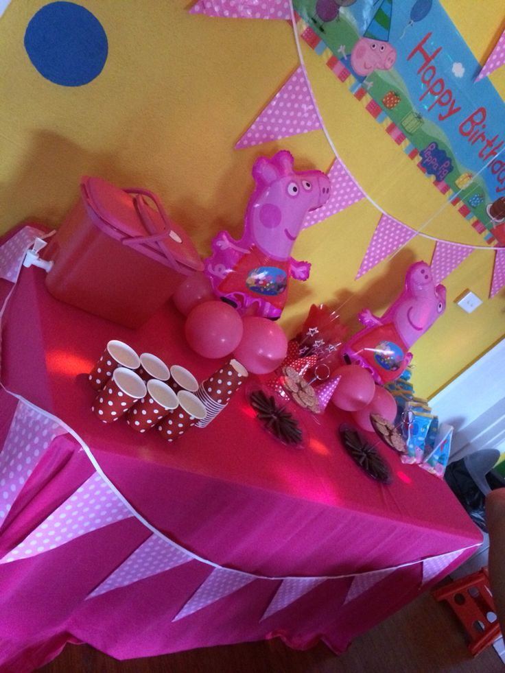 Peppa Pig Birthday Party.
