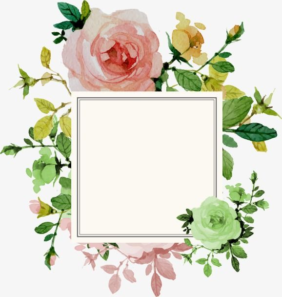 Flower Border Flower Clipart Frame Png Transparent Clipart Image And Psd File For Free Download Flower Painting Flower Border Png Flower Border