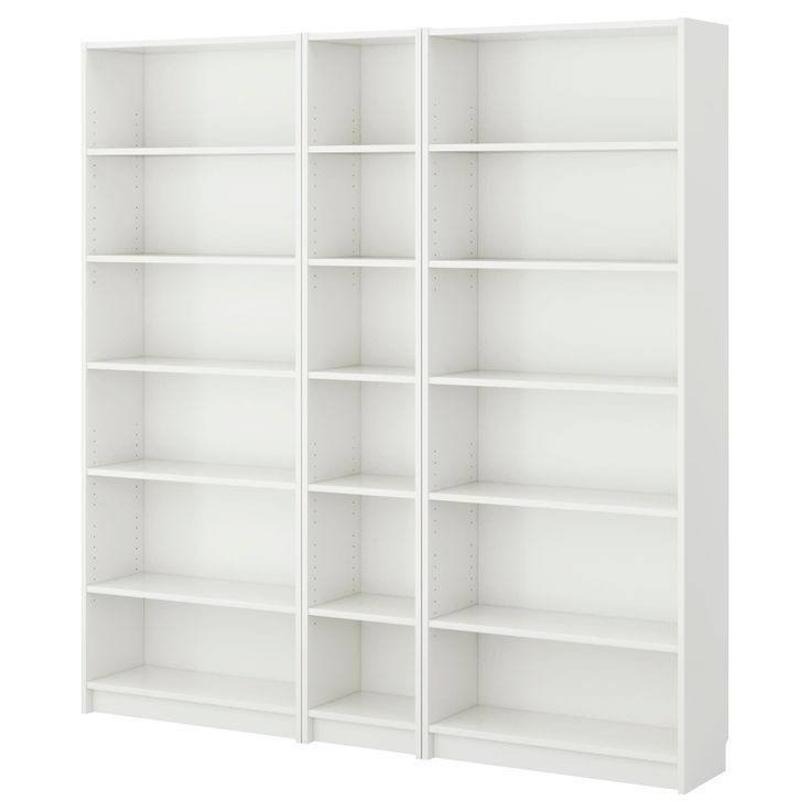 BILLY Bookcase - white - IKEA  plus another small and another large would fill the whole back wall of No Man's Land... could definitely be worth it :)
