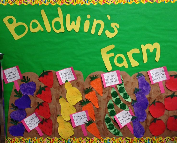 vegetable Garden Bulletin Board | Here are some close ups of the veggies that the kids made...