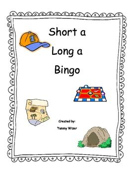 Bingo game for long a and short a.  Picture cards include the words for leveled differentiation.  All kids can play even if they aren't strong read...