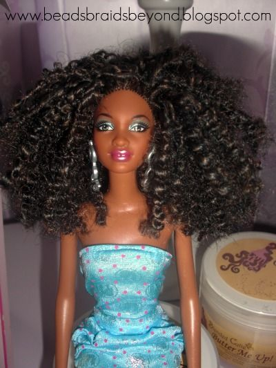 Turning Barbies into Natural Hair Dolls  Wraps, Curly