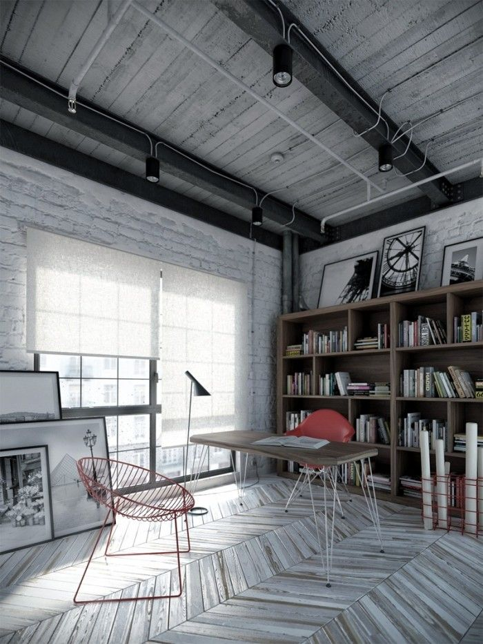 Best Industrial Design Style Images On Pinterest - A loft with industrial design by russian designer maxim zhukov