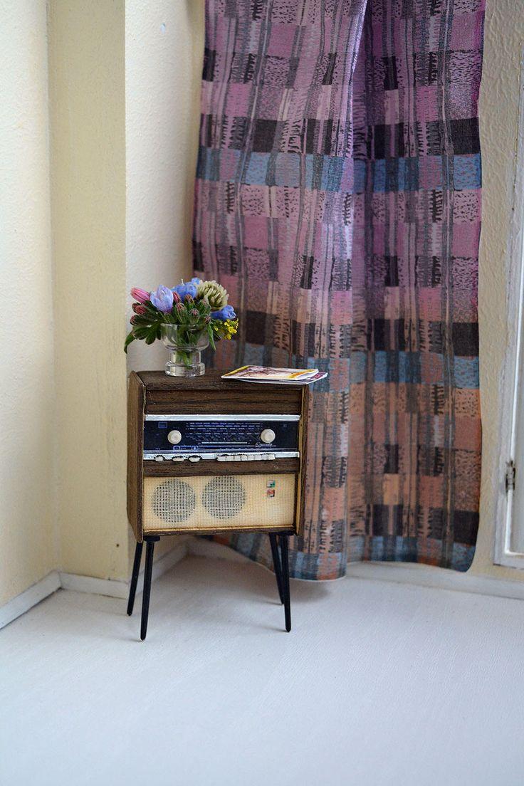 Radio Rigonda-102 for a dollhouse, doll furniture, retro radio receiver, 1/12 Dollhouse Miniature Scale by Galchi on Etsy