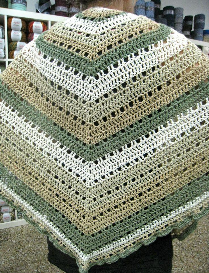 Mejores 17 imágenes de chal crochet en Pinterest   Chal de ganchillo ...