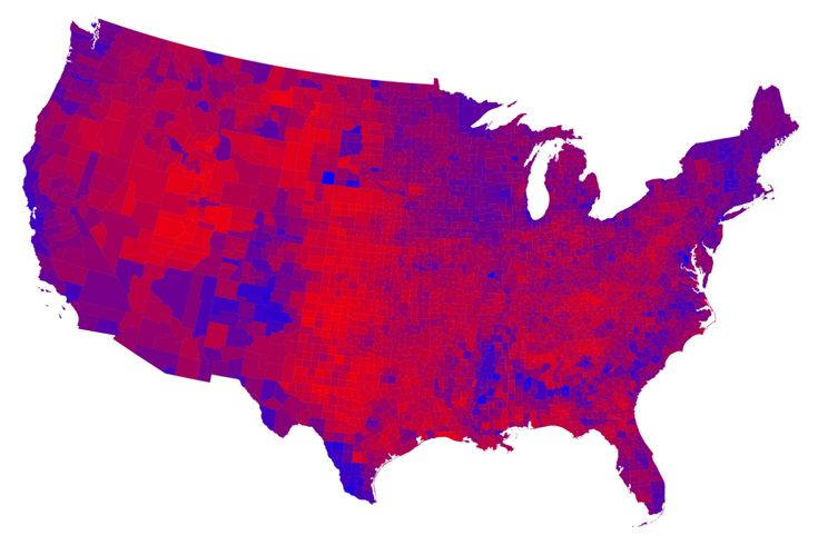 Election maps - Maps of the 2012 US presidential election results, the real red and blue map!