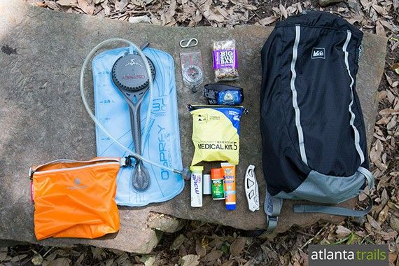 What's in my backpack on local hikes? Here's my hiking gear list for day hikes in the local Atlanta area.