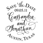 customized stamps for Save the Dates, return address and monogram: Save The Date, Handwritten Calligraphy, Vintage Labels, Names, Monograms Stamps, Design Studios, Calligraphy Stamps, Rubber Stamps, Custom Stamps