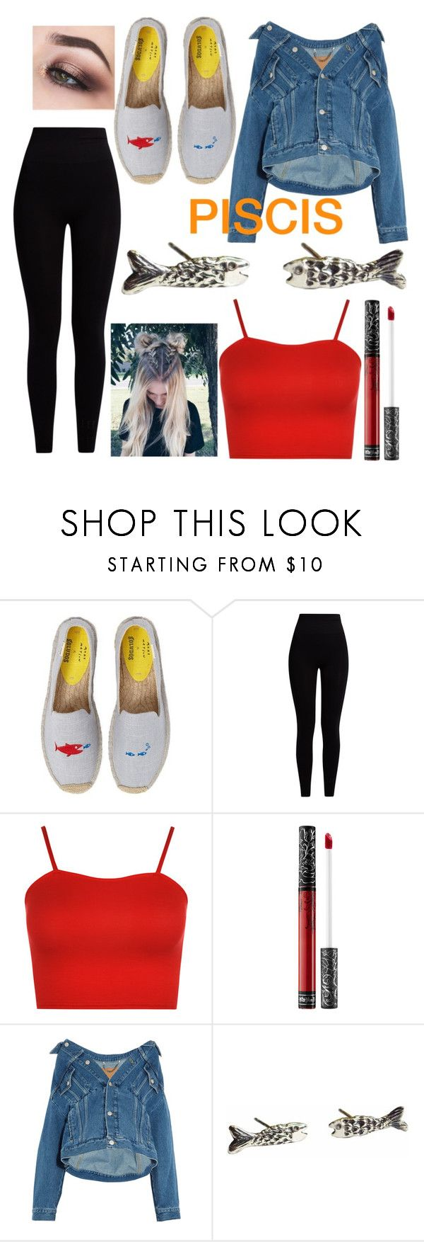 """""""Its Not Pisces Its PISCIS"""" by mrs-stilinski1520 ❤ liked on Polyvore featuring Soludos, Pepper & Mayne, WearAll, Kat Von D, Balenciaga and momocreatura"""