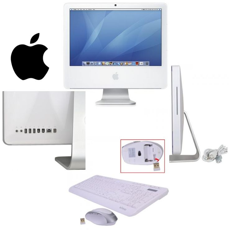 http://bit.ly/1Ai9wEl: Apple iMac 17″ Core 2 Duo 1.83 GHz All-in-One Computer -512MB 160GB CDRW/DVD AirPort OS X w/Webcam (Late 2006) -C