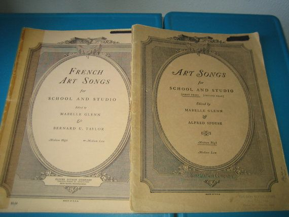 French and Art Vintage Music Books Decor/ by Apaperspast on Etsy,