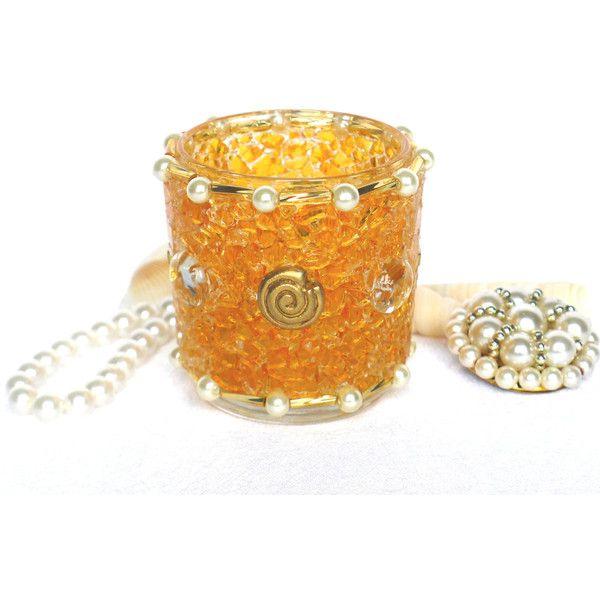 Best Tea light Holder Orange Gold Lantern handmade mosaic lighting