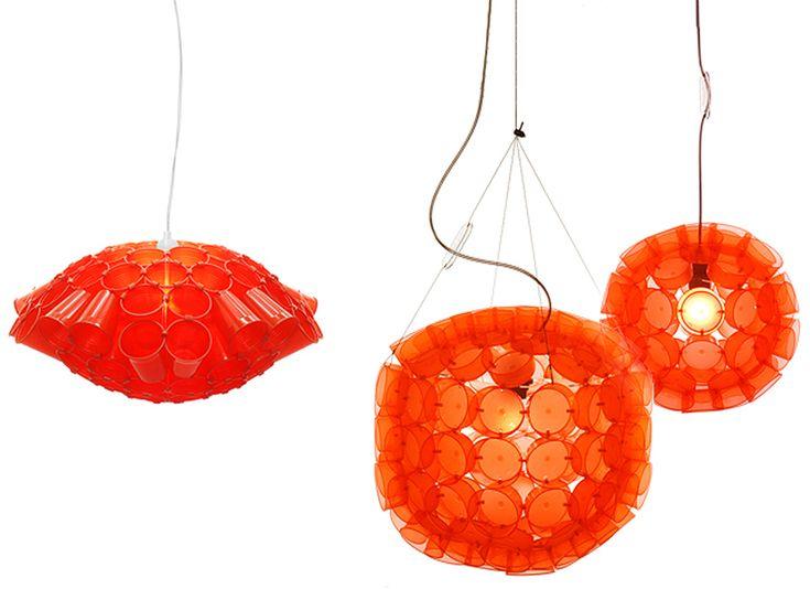 Meike Harde: Lichtschlucker Plastic Cup Lamps Design