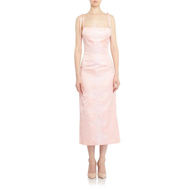 The Vampire's Wife   Night Garden Medici Dress in Pink Silk   FIVESTORYNY.COM