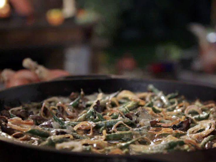Green Bean Casserole with Homemade Mushroom Gravy recipe from Guy Fieri via Food Network