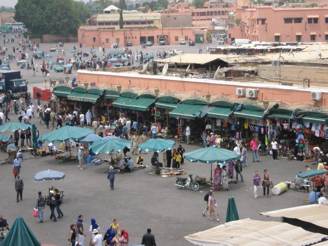 Jemaa el fna - the market that never sleeps by day