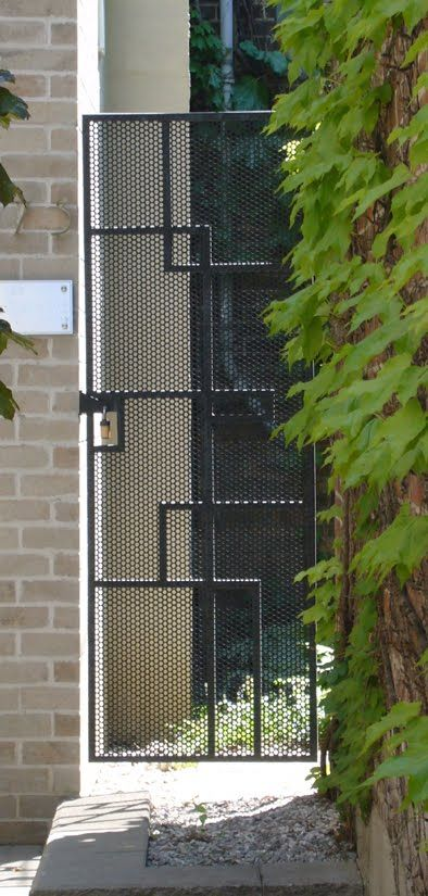 Interesting alternative to bog standard black metal gate, also might be harder to climb over?
